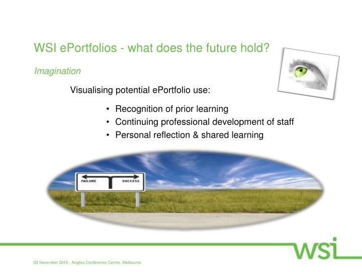 WSI ePortfolios - what does the future hold?