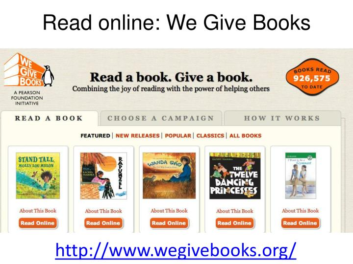 Read online: We Give Books