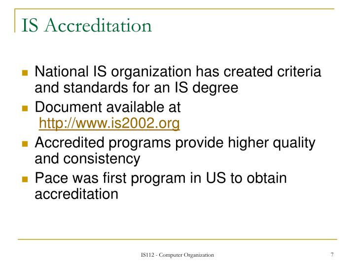 IS Accreditation