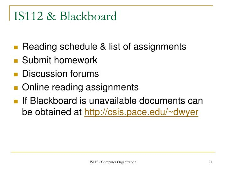 IS112 & Blackboard