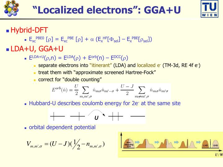 """Localized electrons"": GGA+U"