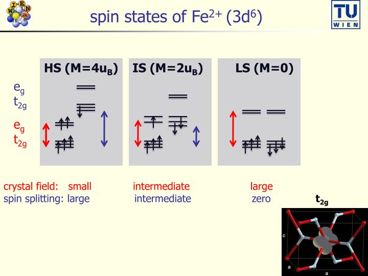 spin states of Fe