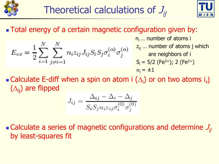 Theoretical calculations of
