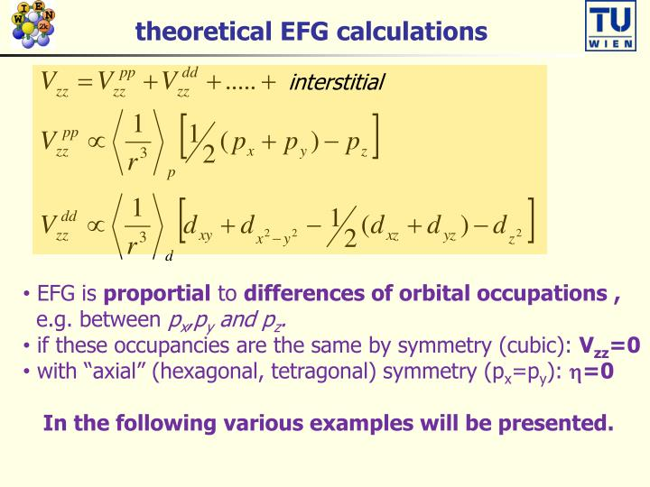 theoretical EFG calculations