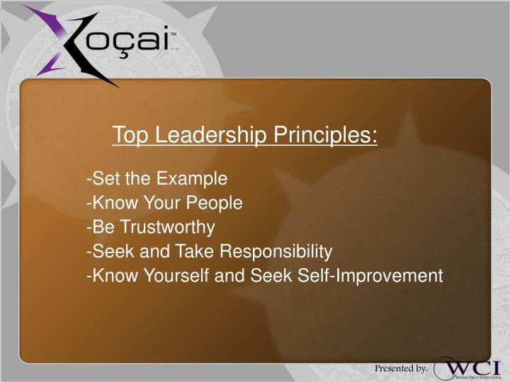 Top Leadership Principles: