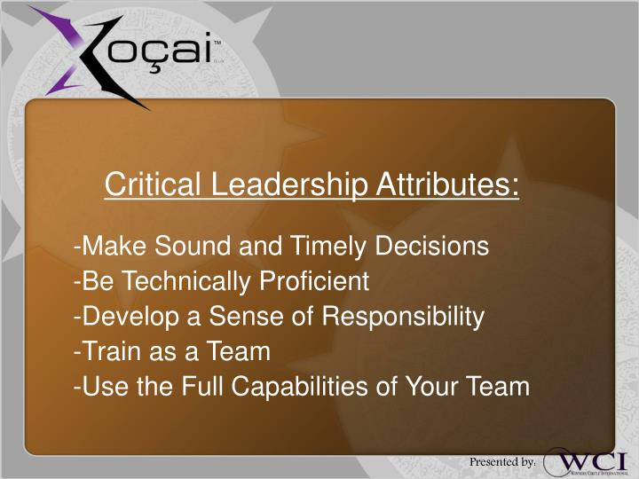 Critical Leadership Attributes: