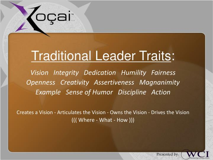Traditional Leader Traits