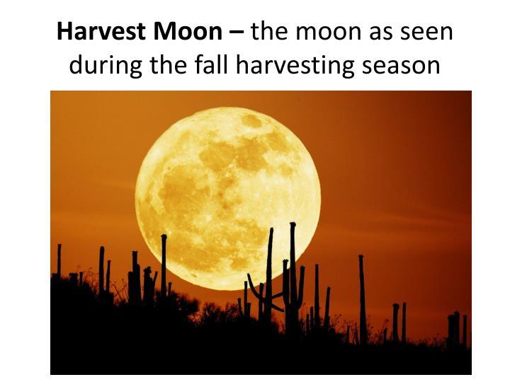Harvest Moon –