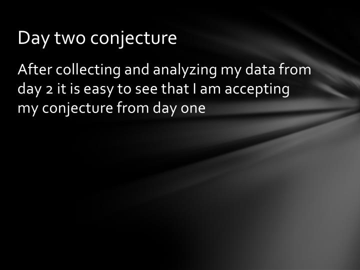 Day two conjecture