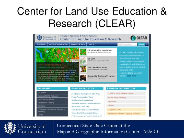 Center for Land Use Education & Research (CLEAR)