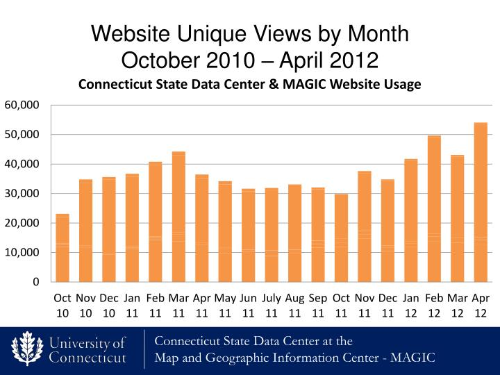 Website Unique Views by Month