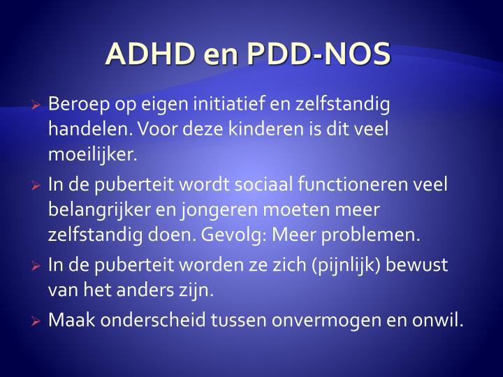ADHD en PDD-NOS