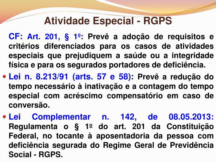 Atividade Especial - RGPS