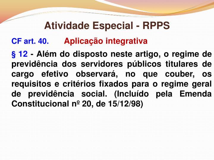 Atividade Especial - RPPS
