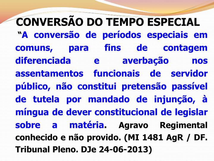 CONVERSÃO DO TEMPO ESPECIAL