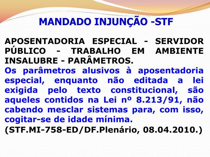 MANDADO INJUNÇÃO -STF
