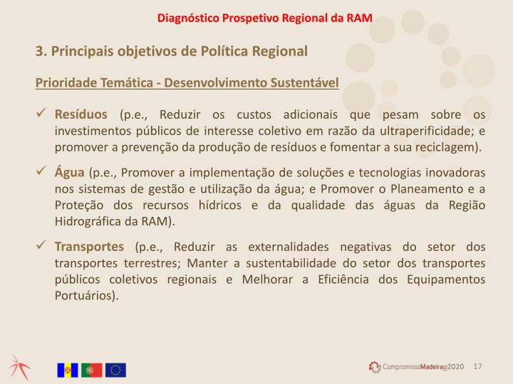 Diagnóstico Prospetivo Regional da RAM