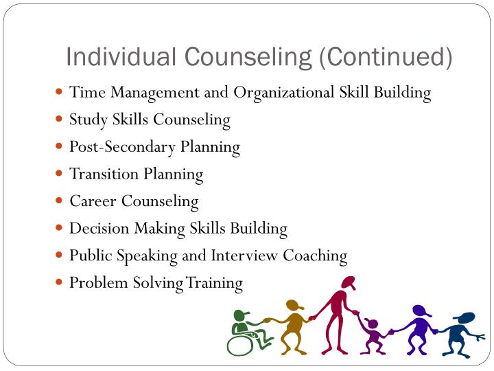 Individual Counseling (Continued)