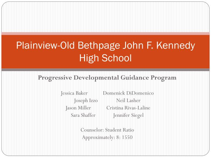 Plainview old bethpage john f kennedy high school