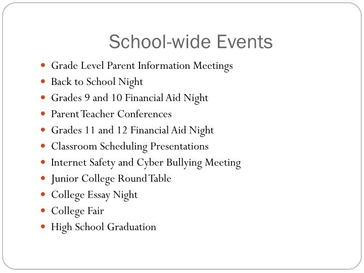 School-wide Events