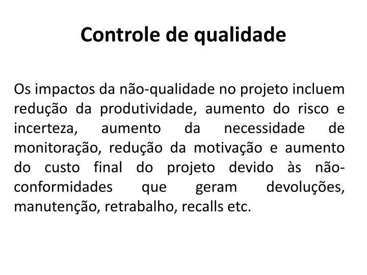 Controle de qualidade