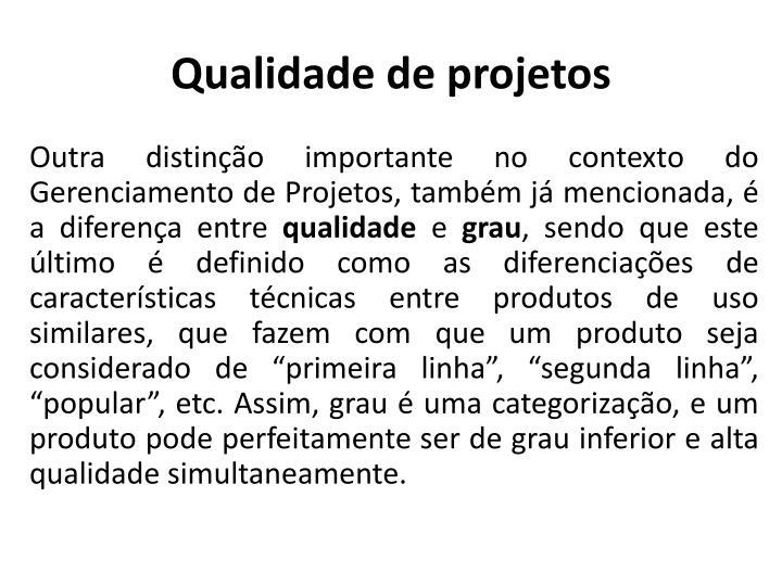 Qualidade de projetos