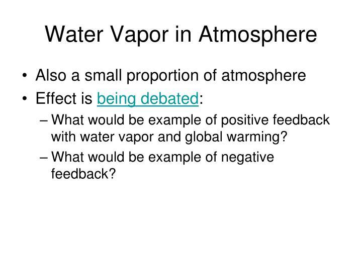 Water Vapor in Atmosphere