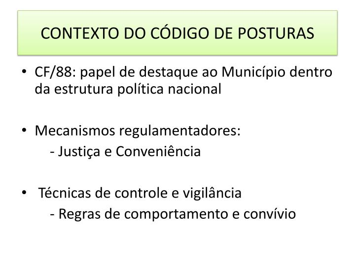 CONTEXTO DO CÓDIGO DE