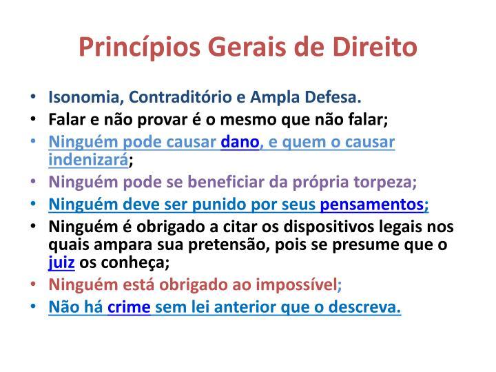 Princípios Gerais de Direito