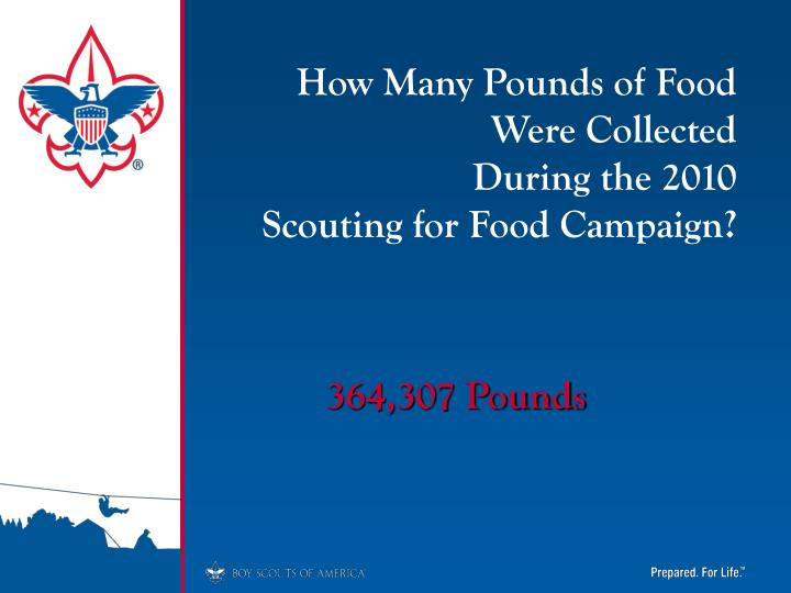 How Many Pounds of Food Were Collected