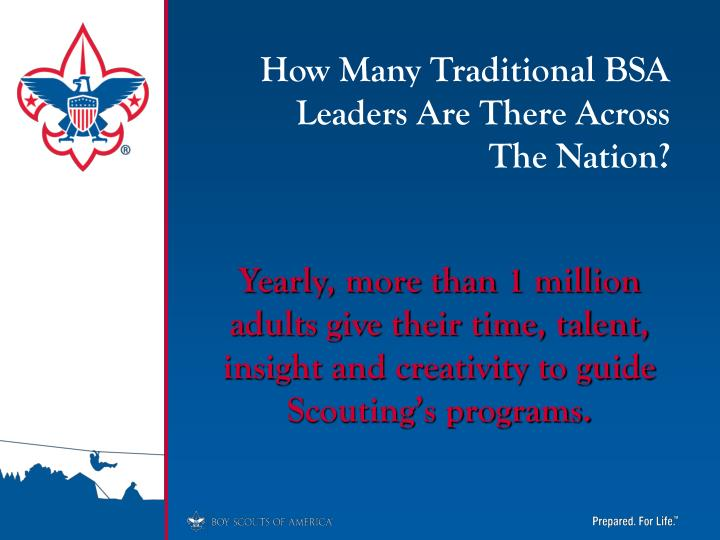 How Many Traditional BSA Leaders Are There Across     The Nation?