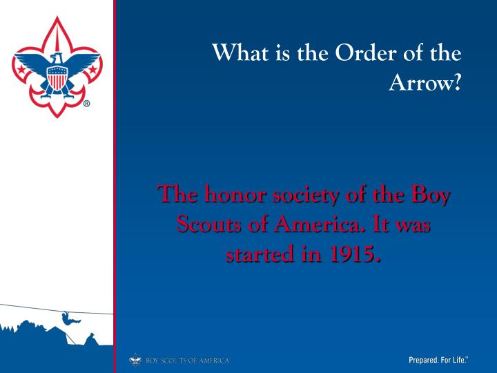 What is the Order of the Arrow?