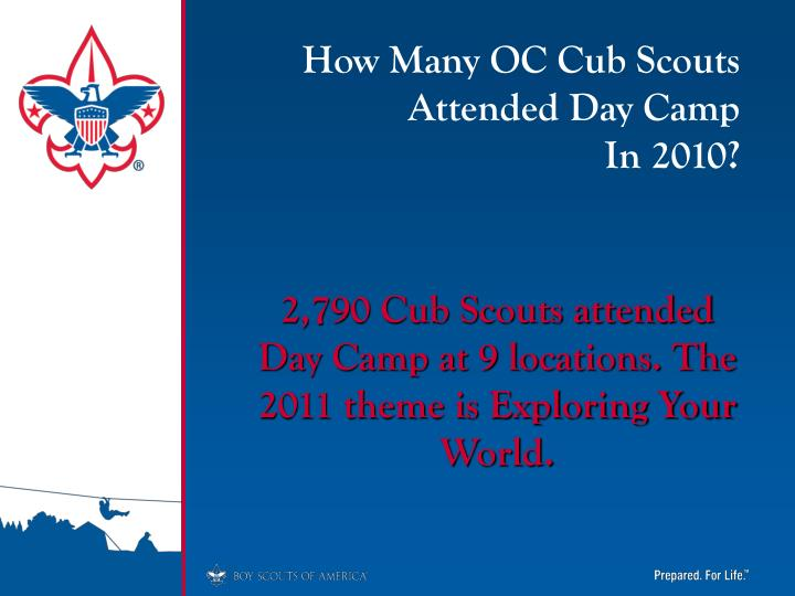 How Many OC Cub Scouts Attended Day Camp