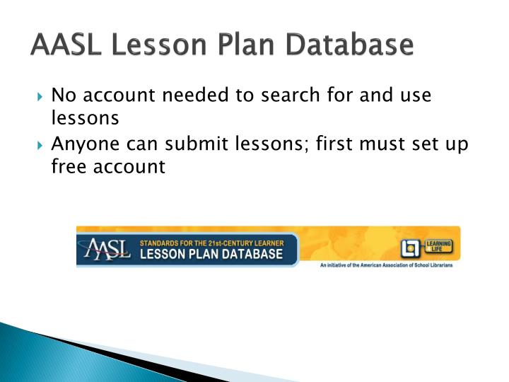 AASL Lesson Plan Database