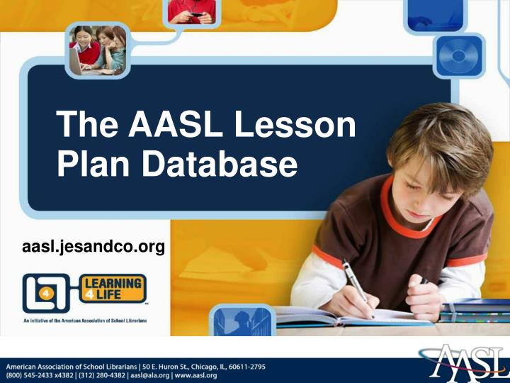 The AASL Lesson Plan Database