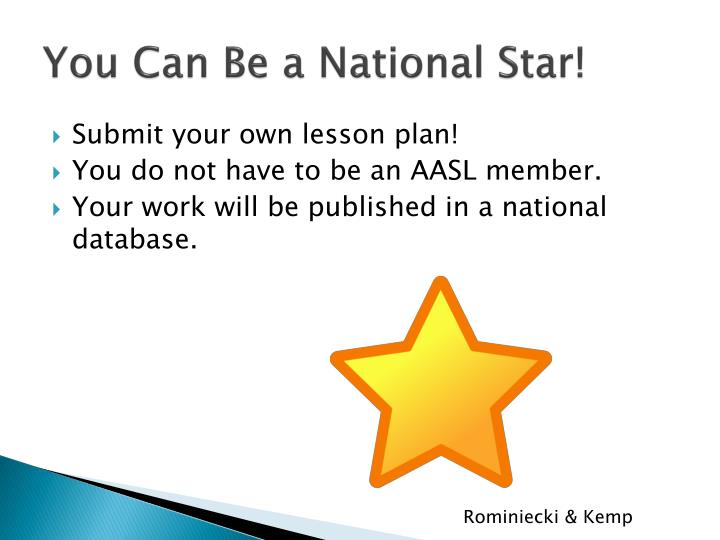 You Can Be a National Star!