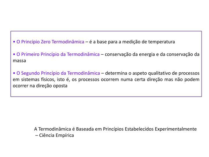 O Princípio Zero Termodinâmica