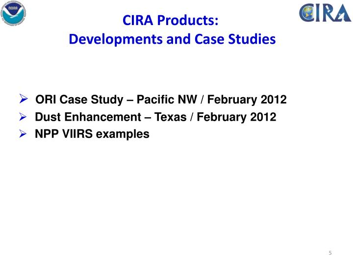 CIRA Products: