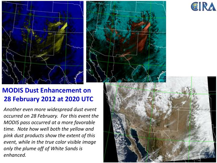 MODIS Dust Enhancement on