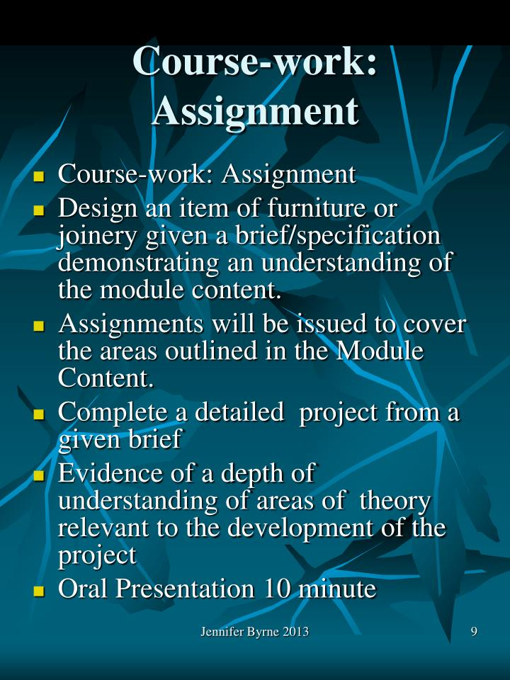 Course-work: Assignment