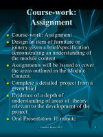 course work assignment