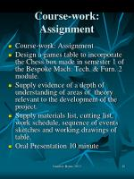course work assignment1