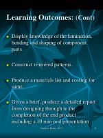 learning outcomes cont