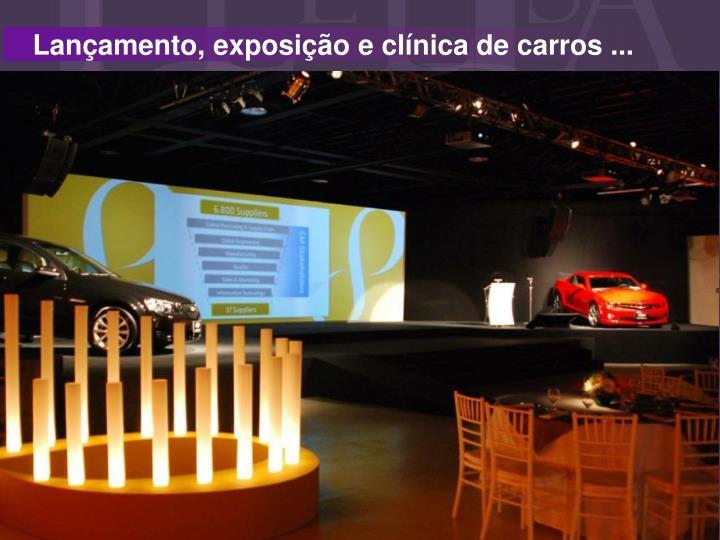 Lançamento, exposição e clínica de carros ...