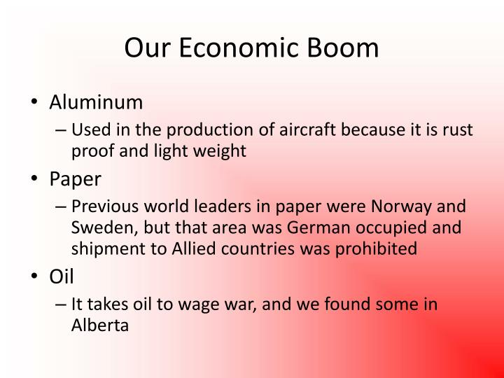 Our Economic Boom