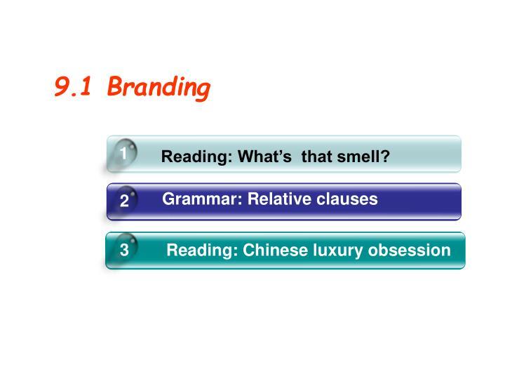 9.1 Branding