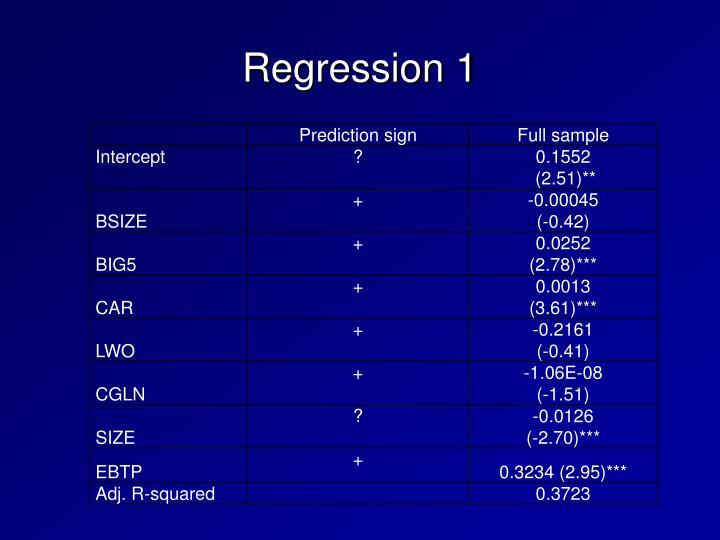 Regression 1