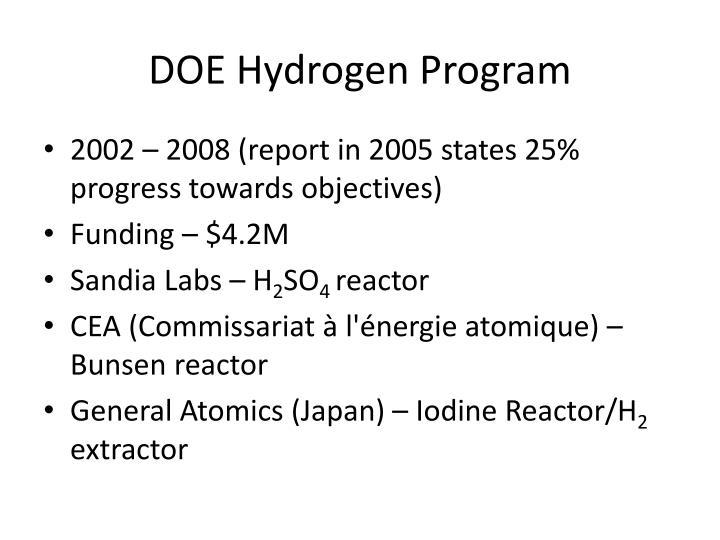 DOE Hydrogen Program