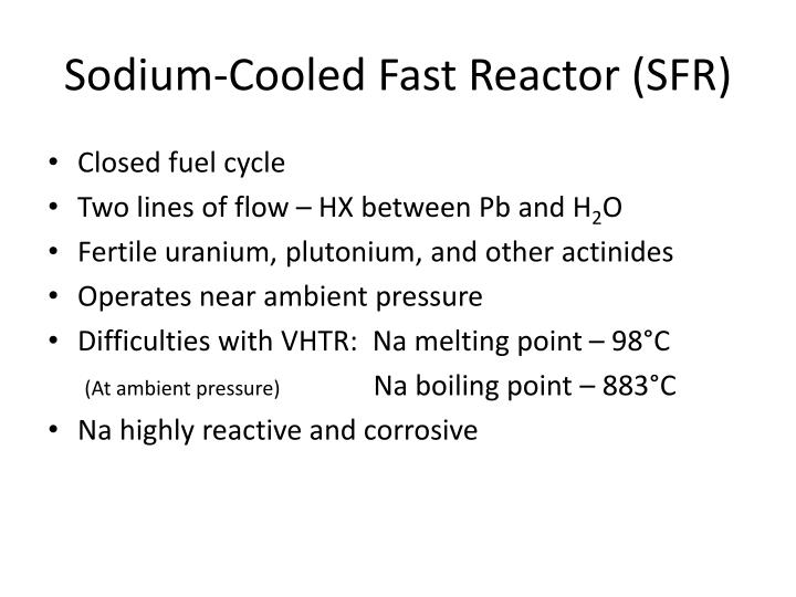 Sodium-Cooled Fast Reactor (SFR)