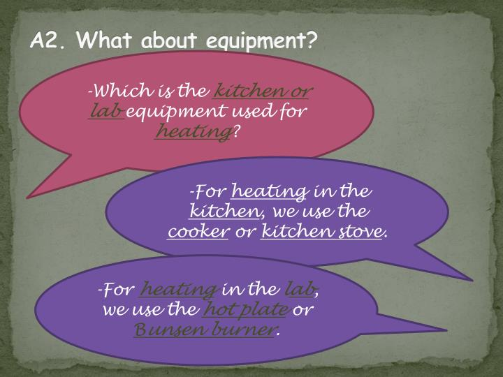 A2. What about equipment?